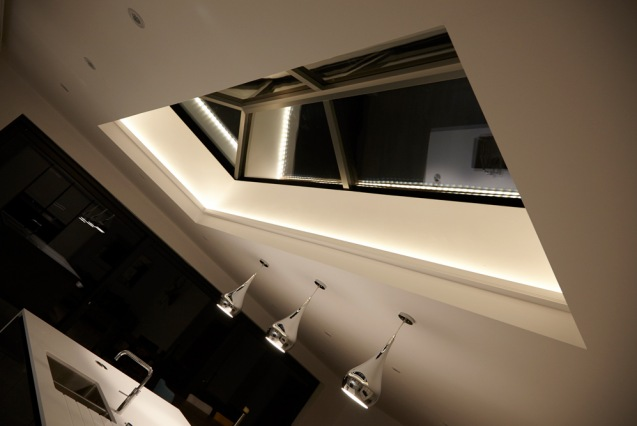 Skylight at night
