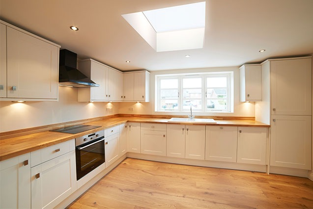 Flat Skylight in Kitchen