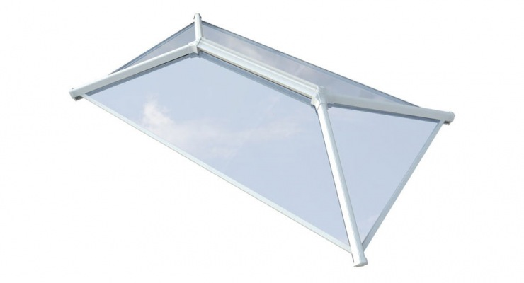 UltraSky 2m x 2.5m Black Aluminium Roof Lantern Clear Glass order online
