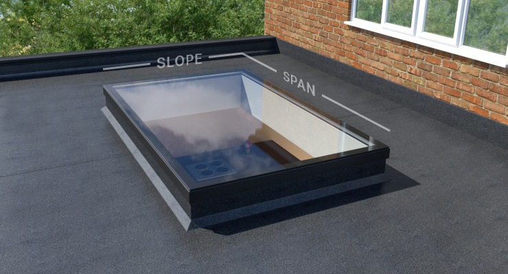 UltraSky 1.1m x 2.3m Black Flat Skylight Clear Glass order online